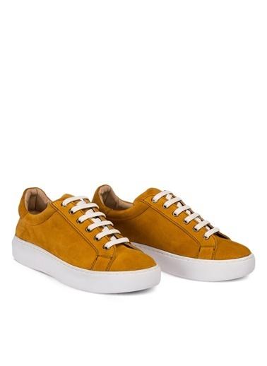 Deery Hakiki Deri  Sneakers Sarı